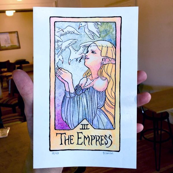THE EMPRESS Risograph Print