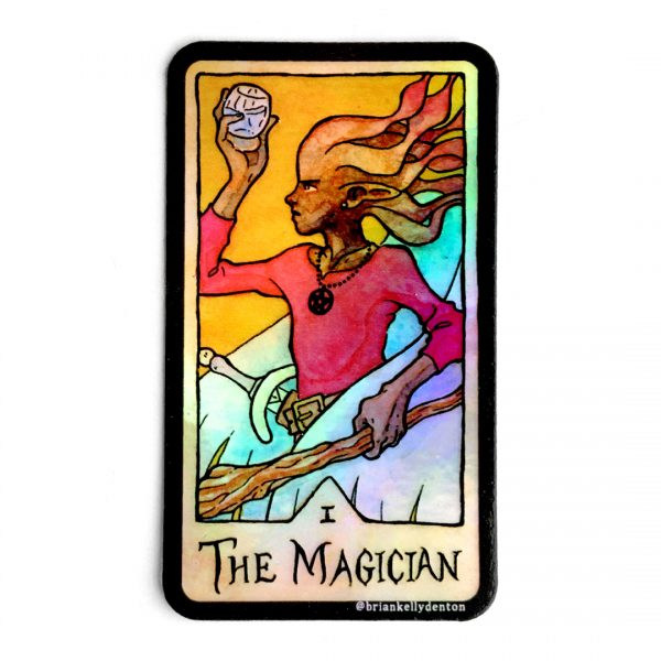 THE MAGICIAN Holographic Tarot Sticker