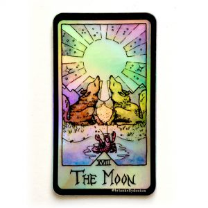 THE MOON Holographic Tarot Sticker