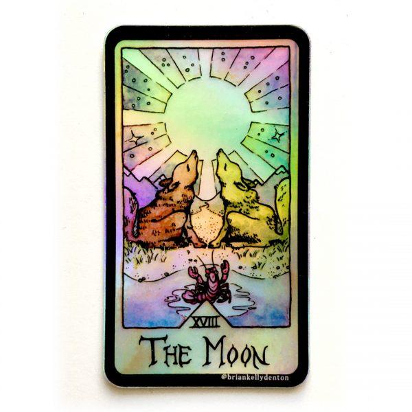 THE MOON Holographic Tarot Sticker