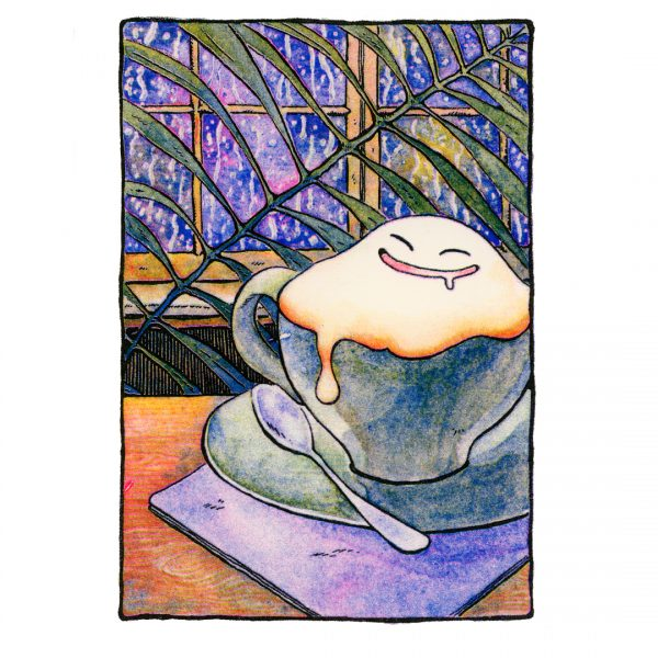 HAUNTED LATTE Risograph Print